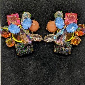J. Crew Bright Crystal Stud earrings